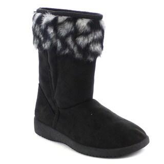 Beston Women's Casual Faux Fur Ankle Snow Boots
