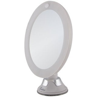 Zadro LED Lighted Z'Swivel Power Suction Cup Mirror 10X
