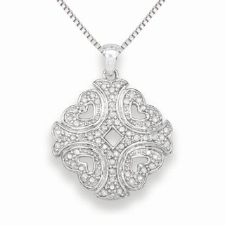 Sterling silver 0.30 Cttw White Diamond Fashion Necklace (H-I, I1-I2)