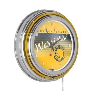 Golden State Warriors Hardwood Classics NBA Ring Neon Clock