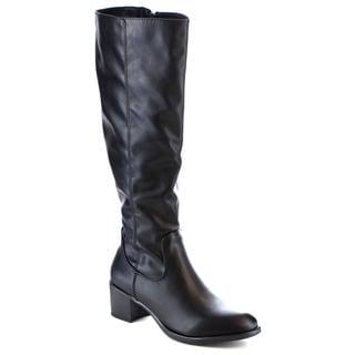 MI.IM Women's 'Viva-01' Soft Slouchy Side Zipper Riding Knee-High Boots