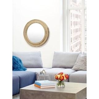 Aurelle Home Round Mirror - Natural
