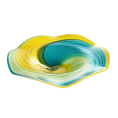 Aurelle Home Trent Glass Plate Wall Decor