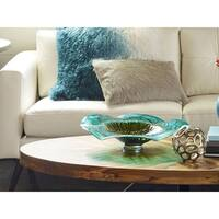 Aurelle Home Cole Colored Decorative Plate