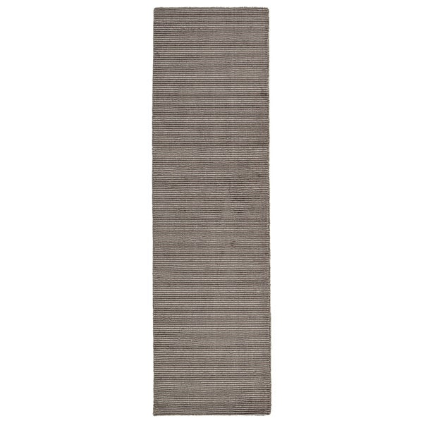 Solid Chic Brown Hand-Tufted Rug (2'3 x 8'0)