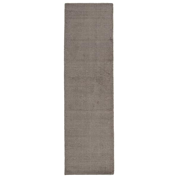 Solid Chic Brown Hand-Tufted Rug - 2'3 x 8'