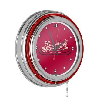 Leinenkugel's 14 Inch Chrome Double Ring Neon Clock