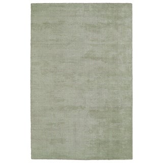 Solid Chic Celery and Brown Hand-Tufted Rug (8' x 10')