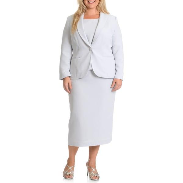 Giovanna Women's Plus Size Signature 3-Piece Skirt Suit