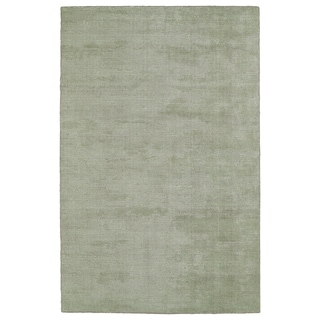 "Solid Chic Celery and Brown Hand-Tufted Rug (5' x 7'9"")"