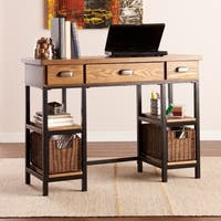 Pine Canopy Williamette Industrial Wood Desk