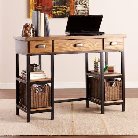 Carbon Loft Dandelion Industrial Wood Desk