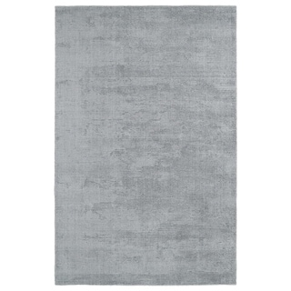 Solid Chic Silver and Grey Hand-Tufted Rug (8'0 x 10'0)