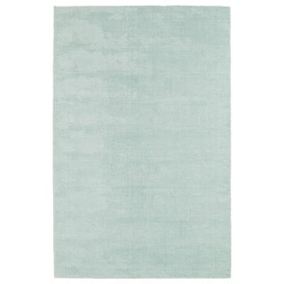 Solid Chic Mint and Ivory Hand-Tufted Rug - 2' x 3'
