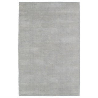 Solid Chic Grey and Beige Hand-Tufted Rug (5'0 x 7'9)