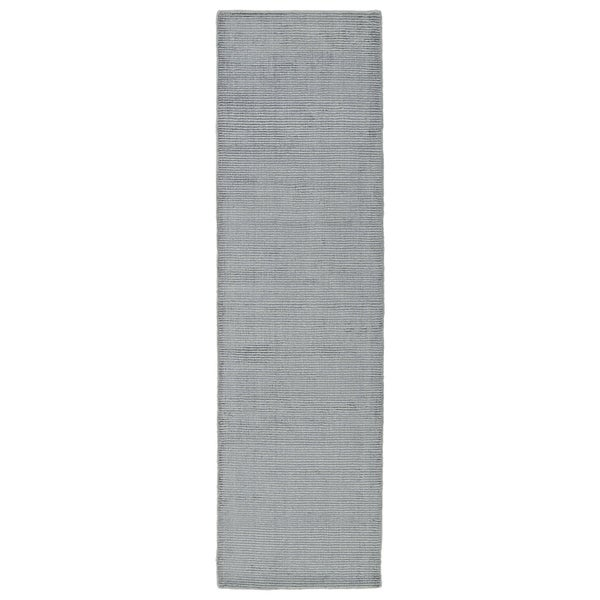Solid Chic Silver and Grey Hand-Tufted Rug (2'3 x 8')