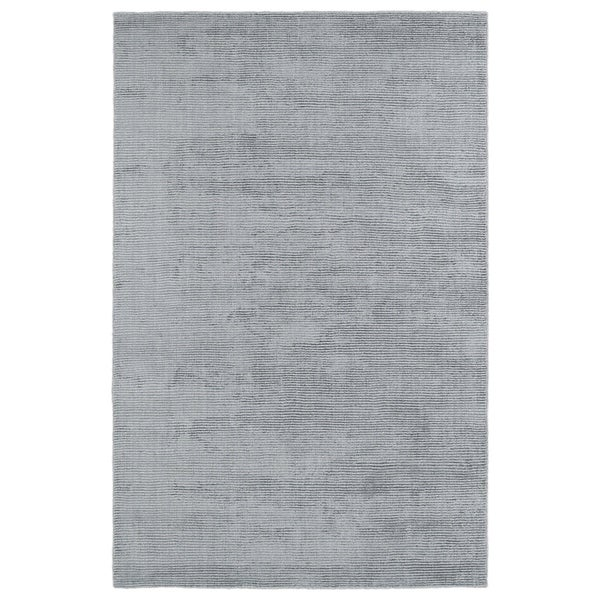 Solid Chic Silver and Grey Hand-Tufted Rug - 5' x 7'9""