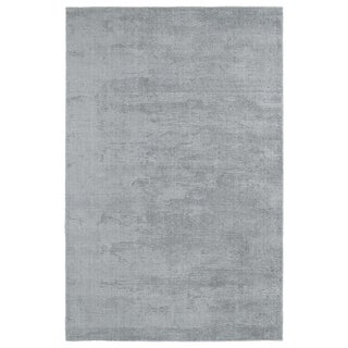 Solid Chic Silver and Grey Hand-Tufted Rug - 9' x 12'