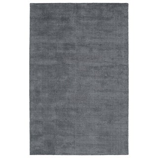 Solid Chic Carbon and Dark Grey Hand-Tufted Rug (5'0 x 7'9)