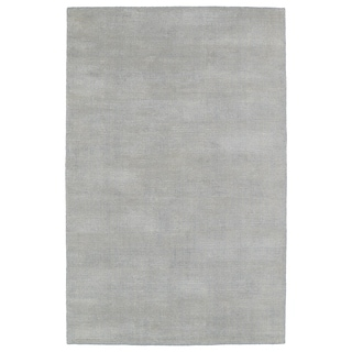 Solid Chic Grey and Beige Hand-Tufted Rug (9'0 x 12'0)