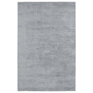 Solid Chic Silver and Grey Hand-Tufted Rug (2'0 x 3'0)