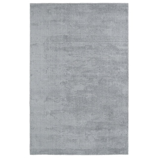 Solid Chic Silver and Grey Hand-Tufted Rug (3' x 5')