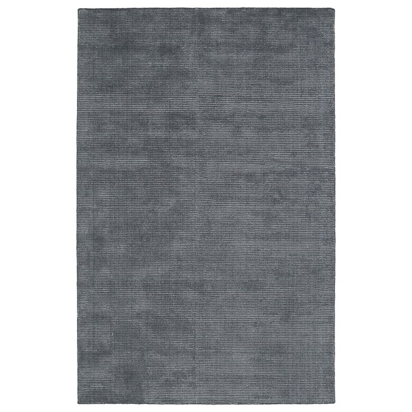 Solid Chic Carbon and Dark Grey Hand-Tufted Rug - 8' x 10'