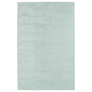 Solid Chic Mint and Ivory Hand-Tufted Rug (5'0 x 7'9)