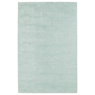 """Solid Chic Mint and Ivory Hand-Tufted Rug - 5' x 7'9"""""""