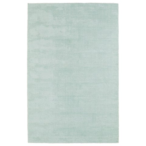 Solid Chic Mint and Ivory Hand-Tufted Rug - 8' x 10'
