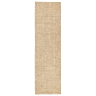 Solid Chic Orange and Cream Hand-Tufted Rug (2'3 x 8'0)