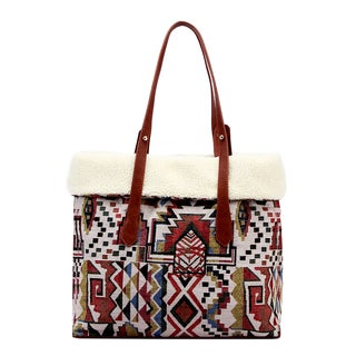 Pink Haley Evelyn Reversible Tribal Print Tote