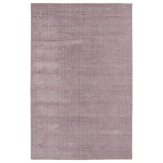 Solid Chic Lilac and Khaki Hand-Tufted Rug (3'0 x 5'0)