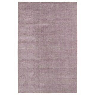 Solid Chic Lilac and Khaki Hand-Tufted Rug - 3' x 5'