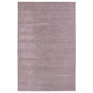 Solid Chic Lilac and Khaki Hand-Tufted Rug (8'0 x 10'0)