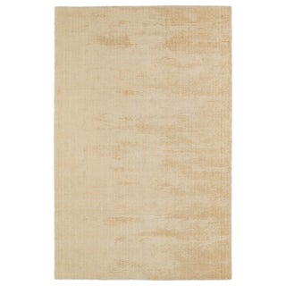 """Solid Chic Orange and Cream Hand-Tufted Rug (5' x 7'9"""")"""