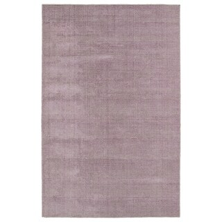 Solid Chic Lilac and Khaki Hand-Tufted Rug (5'0 x 7'9)
