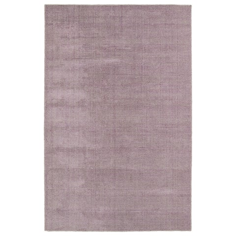 Solid Chic Lilac and Khaki Hand-Tufted Rug - 9' x 12'