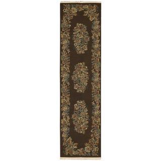 Nourison Nourmak Encore Chocolate Runner Rug (2'6 x 10')