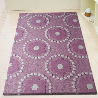 Hand-tufted Pedals Pink Kids' Rug (4' x 6')
