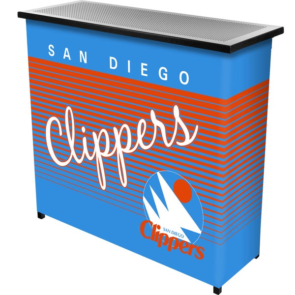 San Diego Clippers Hardwood Classics NBA Portable Bar w/Casee