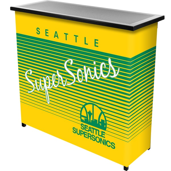 Seattle Super Sonics Hardwood Classics NBA Portable Bar w/Case