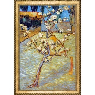 Vincent Van Gogh 'Pear Tree in Blossom' Hand Painted Framed Canvas Art