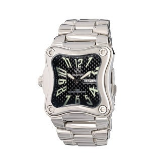 Reactor 87003 Men's Flux Stainless Steel Warped Dial Watch