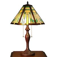 Nevaeh 2-light Multi-color Tiffany-style 16-inch Table Lamp