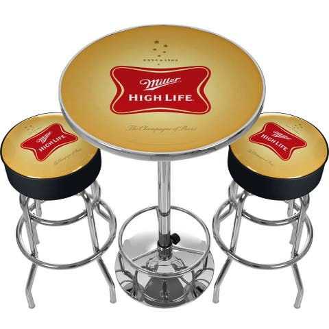 Ultimate Miller High Life Pub Table and Stools Combo
