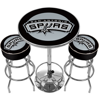 Ultimate NBA San Antonio Spurs Gameroom Combo-2 Bar Stools & Table