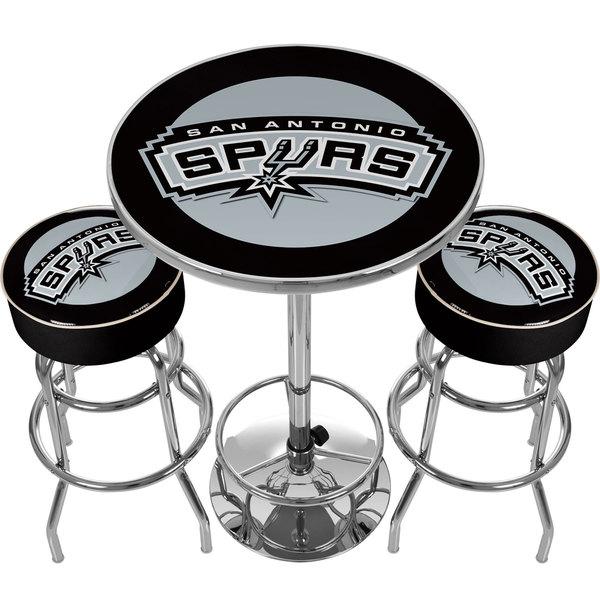 Ultimate NBA San Antonio Spurs Gameroom bo 2 Bar Stools Table