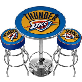 Ultimate NBA Oklahoma City Thunder Gameroom Combo-2 Bar Stools & Table