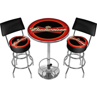 Ultimate Budweiser Gameroom Combo - 2 Bar Stools and Table